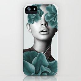 Floral Portrait (woman) iPhone Case