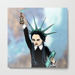 Wednesday Liberty Metal Print