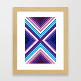 Neon Pond Framed Art Print