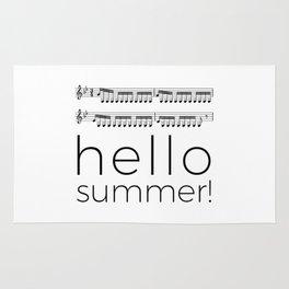 Hello summer! (white) Rug