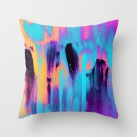paradise Throw Pillows featuring Paradise by Elisabeth Fredriksson