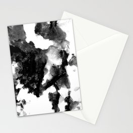 "French Black Marble - ""Marbre Noir"" - On White Background Stationery Cards"