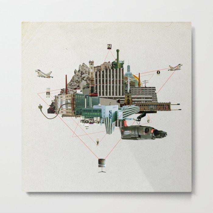 Collage City Mix 2 Metal Print