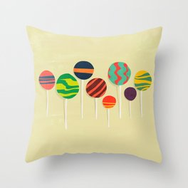 Sweet lollipop Throw Pillow