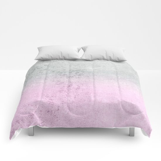 FADING CONCRETE PINK Comforters