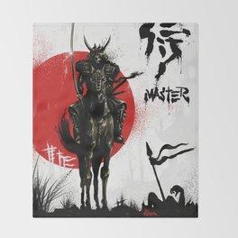 Samurai Master Throw Blanket