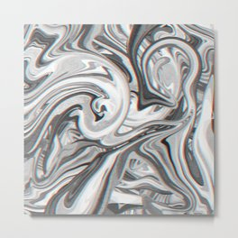 Marble Glitch Pattern Metal Print