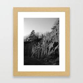 Sunset Quarry Black & White Framed Art Print