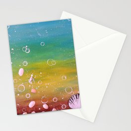 READY TO BREATHE - ANOTHER DREAM - Original abstract painting by HSIN LIN / HSIN LIN ART Stationery Cards