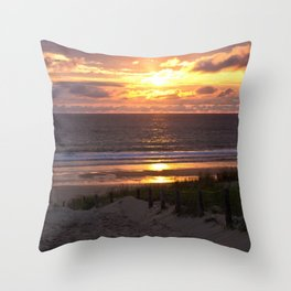 way to the beach Throw Pillow