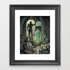 Dredd Drug Bust Framed Art Print