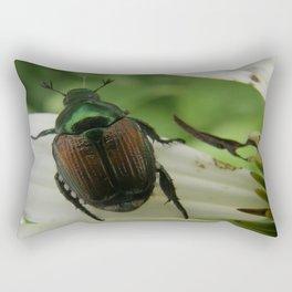 Metallic Emerald Green Rectangular Pillow
