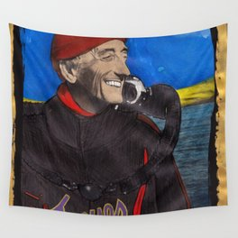 Jacques Cousteau Wall Tapestry