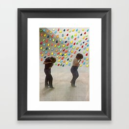 Please Be Happy Framed Art Print