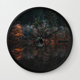 Serene Wilderness Lakeside Nature Photography Wall Clock