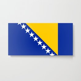 Bosnia And Herzegovina Flag Metal Print