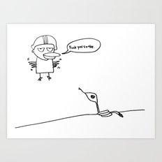 fuck you snake Art Print