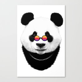 Panda hippie Canvas Print