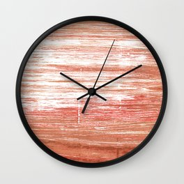 Copper red Wall Clock