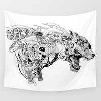 beast Wall Tapestries featuring Roaring beast by wonman kim