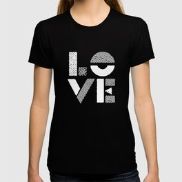 Love black and white contemporary minimalist typography design home wall decor bedroom T-shirt