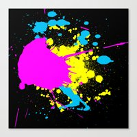 splatter Canvas Prints featuring Splatter by Spooky Dooky