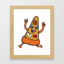 Pizza Rocks Framed Art Print