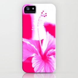 Hibiscus flower abstract. iPhone Case