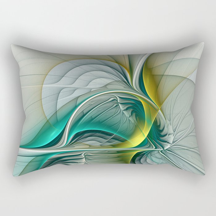 Fractal Evolution, Abstract Art Graphic Rectangular Pillow