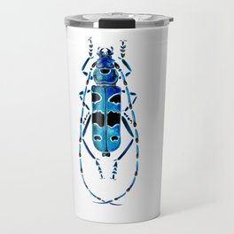 Beetle 09 blue Travel Mug