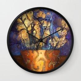 Orange Pot with blue sky Wall Clock