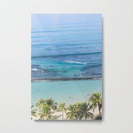 Waikiki Aerial // Vertical Metal Print