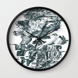 glitch1 Wall Clock