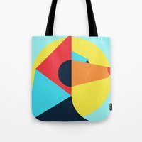 pagan Tote Bags featuring PAGAN ANIMALS - WOLF by Atelier FP7