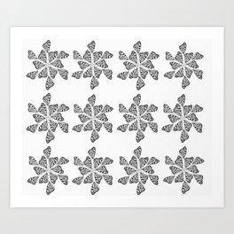 Butterfly Mandalas Art Print