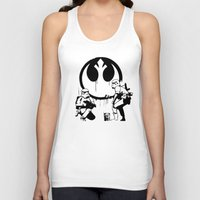 banksy Tank Tops featuring Banksy Troopers by Don Calamari