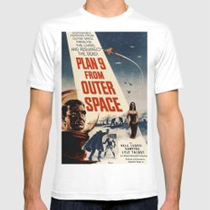Plan 9 From Outer Space White Mens Fitted Tee MEDIUM