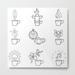 Tea impression Metal Print