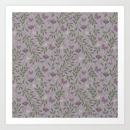 Blossom & Butterflies Art Print
