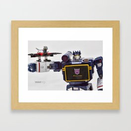Decepticon Soundwave & Laserbeak Framed Art Print