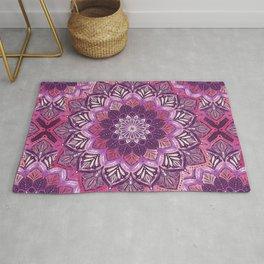 Boho Mandala in Deep Purple and Pink Rug