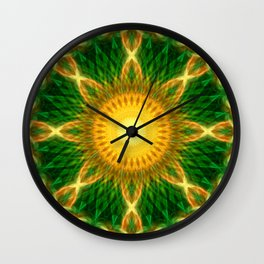 Solar Growth Mandala Wall Clock