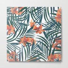 Tropical Lilies Metal Print