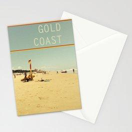 Gold Coast Main Beach retro  Stationery Cards