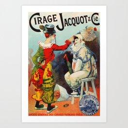 Vintage 1894 French Shoe Polish Ad Art Print