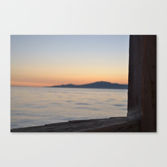 just beyond the ledge Canvas Print
