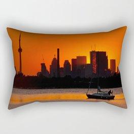 Sunset Sail Ashbridges Bay Toronto Canada Rectangular Pillow