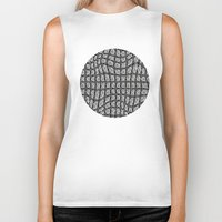gray pattern Biker Tanks featuring Gray Pepples Pattern by Pia Schneider [atelier COLOUR-VISION]