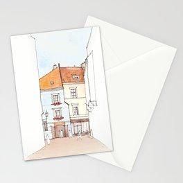 Alley in Cesky Krumlov Stationery Cards