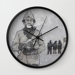 Snow Dogs Wall Clock